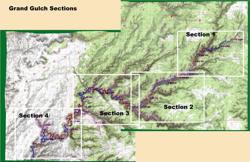 Grand Gulch Utah: Trails, Tales, Topo Maps and Anasazi Sites